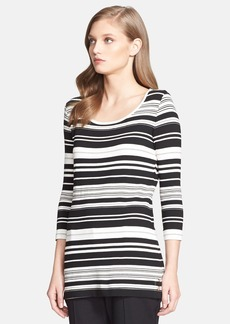 St. John Collection Stripe Jersey Tunic Top
