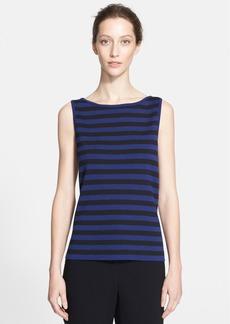 St. John Collection Stripe Milano Knit Shell