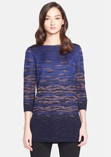 St. John Collection Sunset Jacquard Knit Tunic
