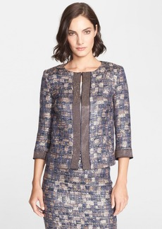 St. John Collection Sunset Tweed Jacket with Pavé Sequin Trim