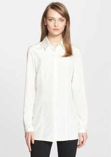 St. John Collection Tailored Silk Crêpe de Chine Blouse
