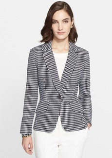 St. John Collection Textured Ribbon Check Knit Blazer