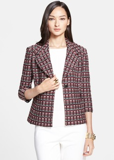 St. John Collection Tri-Tone Cord Knit Jacket