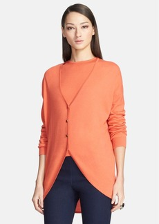 St. John Collection  V-Neck Shirttail Hem Trapeze Cardigan