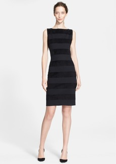 St. John Collection Velvet Stripe Milano Knit Dress