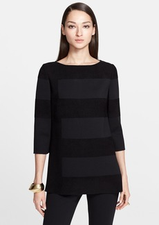 St. John Collection Velvet Stripe Milano Knit Tunic