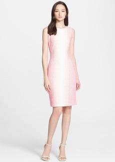 St. John Collection Vertical Dégradé Zigzag Knit Sheath Dress