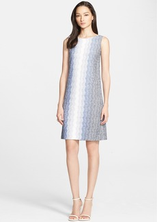 St. John Collection Vertical Dégradé Zigzag Knit Shift Dress