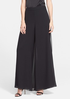 St. John Collection Wide Leg Silk Georgette Pants
