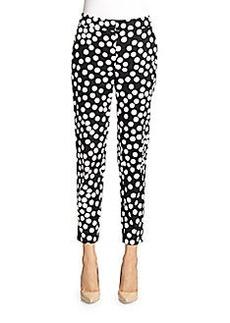 St. John Dot Print Stretch Poplin Pants