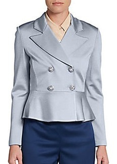 St. John Double-Breasted Peplum Jacket