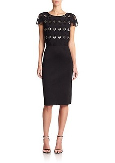 St. John Embellished-Top Milano Dress