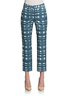 St. John Emma Printed Cropped Trousers