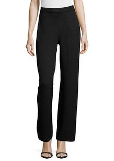 St. John Kate Wide-Leg Pants, Black