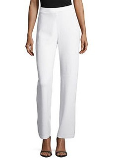 St. John Kate Wide-Leg Pants, Bright White