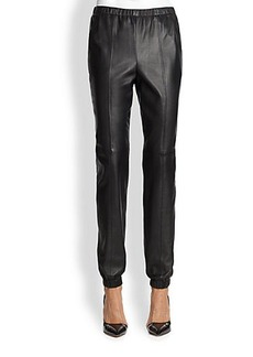 St. John Leather Jogging Pants