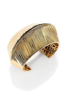 St. John Mesh-Back Wide Cuff Bracelet