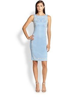 St. John Milano Beaded Shimmer-Knit Dress