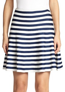 St. John Milano Striped Flared Skirt