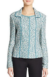 St. John Ocean Wave Shimmer Tweed Jacket