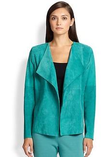 St. John Open-Front Suede Jacket