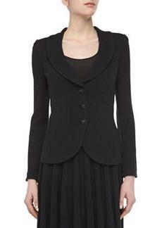 St. John Pavé Crystal Button Jacket, Onyx