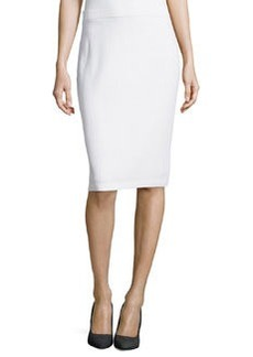 St. John Pull-On Knit Pencil Skirt, Bright White