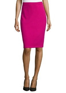 St. John Pull-On Knit Pencil Skirt, Cosmo