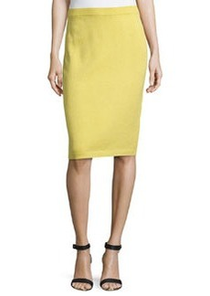 St. John Pull-On Knit Pencil Skirt, Verbena