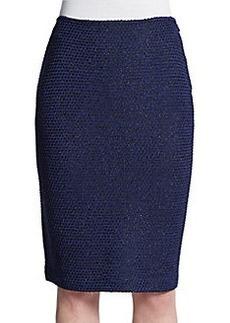St. John Punto Riso Textured Pencil Skirt
