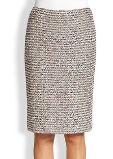 St. John Ribbon-Bouclé Pencil Skirt
