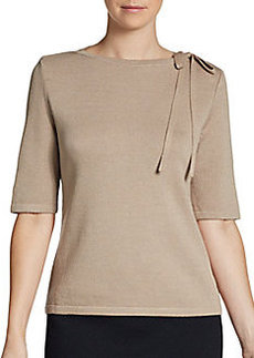 St. John Santana Bow Sweater