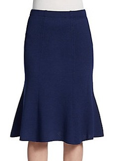 St. John Santana Fit-And-Flare Skirt