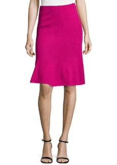 St. John Santana Fit-and-Flare Skirt, Cosmo Pink