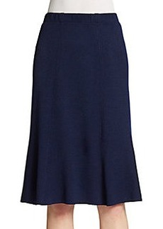 St. John Santana Flared Knit Skirt