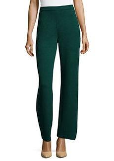 St. John Santana Knit Basic Pants, Emerald