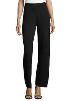 St. John Santana Knit Basic Pants, Onyx
