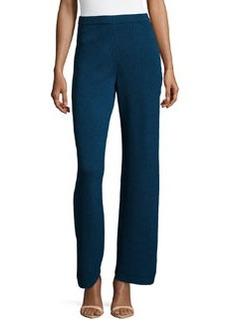 St. John Santana Knit Basic Pants, Sapphire
