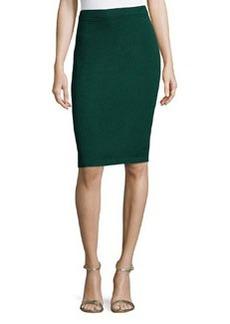 St. John Santana Knit Basic Pencil Skirt, Emerald