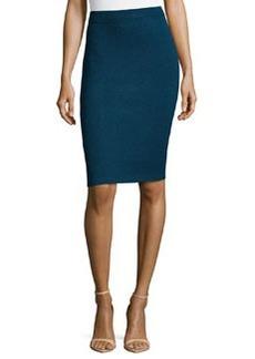St. John Santana Knit Basic Pencil Skirt, Sapphire