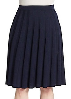 St. John Santana Knit Pleat Skirt