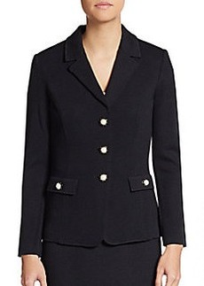 St. John Santana Knit Three-Button Blazer