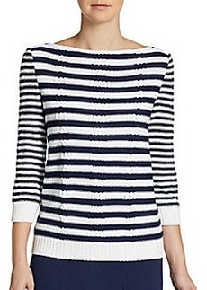 St. John Santana Striped Sweater