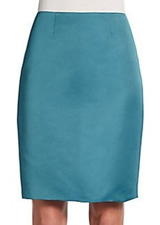 St. John Satin Pencil Skirt