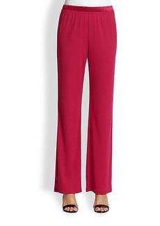 St. John Satin-Trimmed Jersey Pants