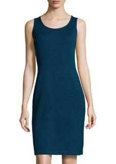 St. John Scoop-Neck Knit Tank Dress, Sapphire