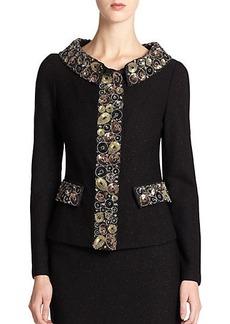 St. John Shimmer Nouveau Bouclé Jacket
