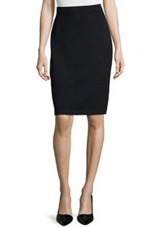 St. John Signature Santana Knit Pencil Skirt, Black