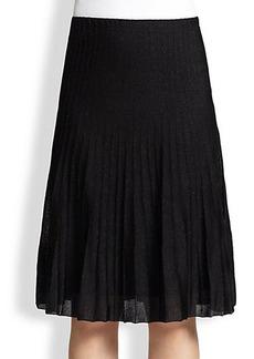 St. John Sparkle Pintuck Skirt