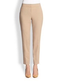 St. John Straight-Leg Wool Pants